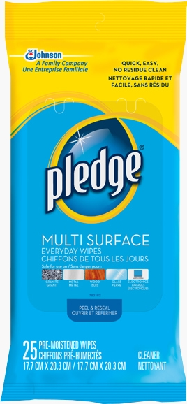 Pledge® Clean Multi Surface Wipes - Fresh Citrus