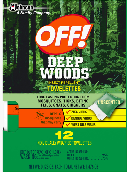 OFF! Deep Woods® Insect Repellent Towelettes
