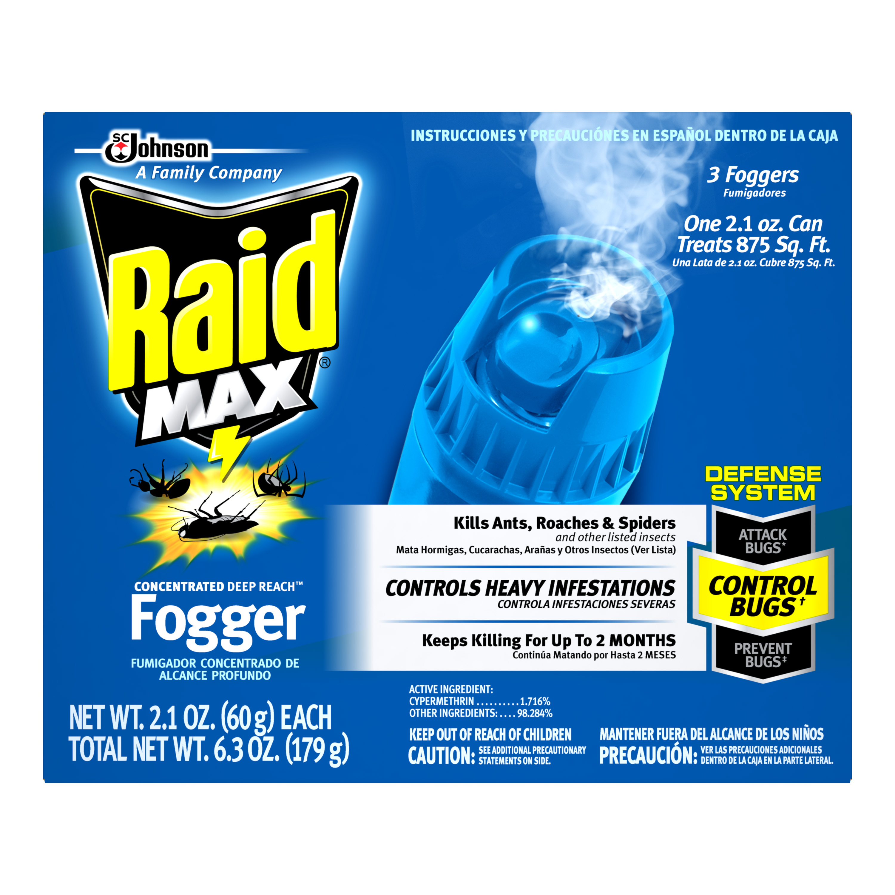 Raid Max® Concentrated DEEP REACH™ Fogger (Discontinued)