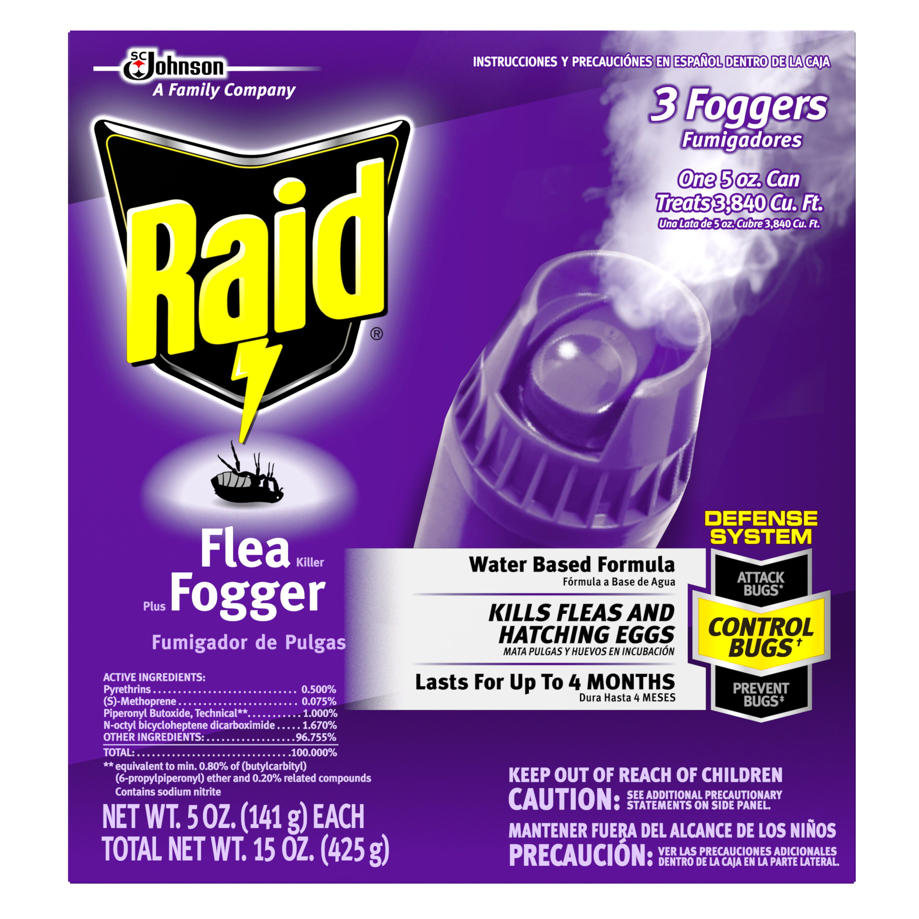 Raid® Flea Killer Plus Fogger