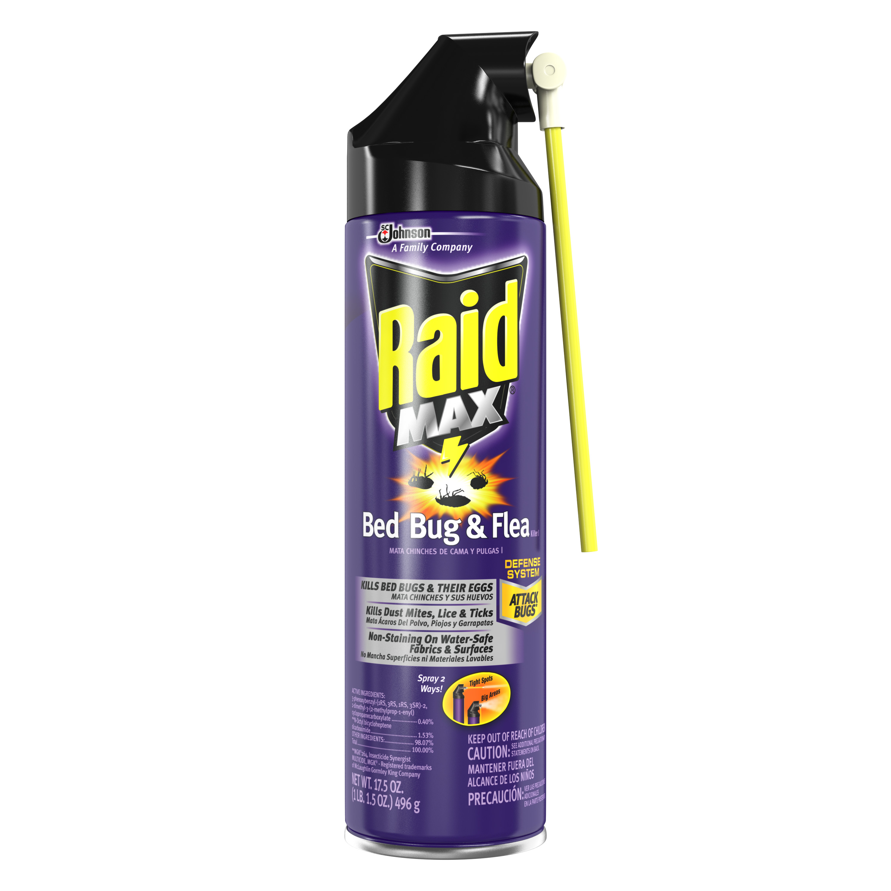 Raid® Max Bed Bug and Flea Killer (Discontinued)
