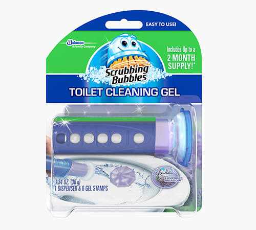 Scrubbing Bubbles® Fresh Gel Toilet Cleaning Stamp - Lavender