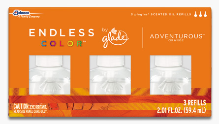 Glade® Endless Color™ PlugIns® Scented Oil Refills - Adventurous™ Orange