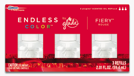 Glade® Endless Color™ PlugIns® Scented Oil Refills - Fiery™ Rouge