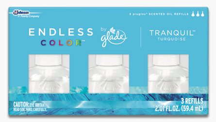 Glade® Endless Color™ PlugIns® Scented Oil Refills - Tranquil™ Turquoise