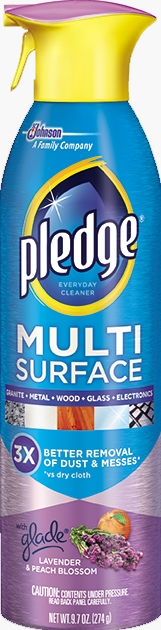 Pledge® Multi Surface Everyday Cleaner with Glade® Lavender & Peach Blossom