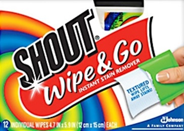 Shout® Wipe & Go Instant Stain Remover Wipes