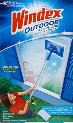 Windex® Outdoor All-in-One Glass Cleaning Tool